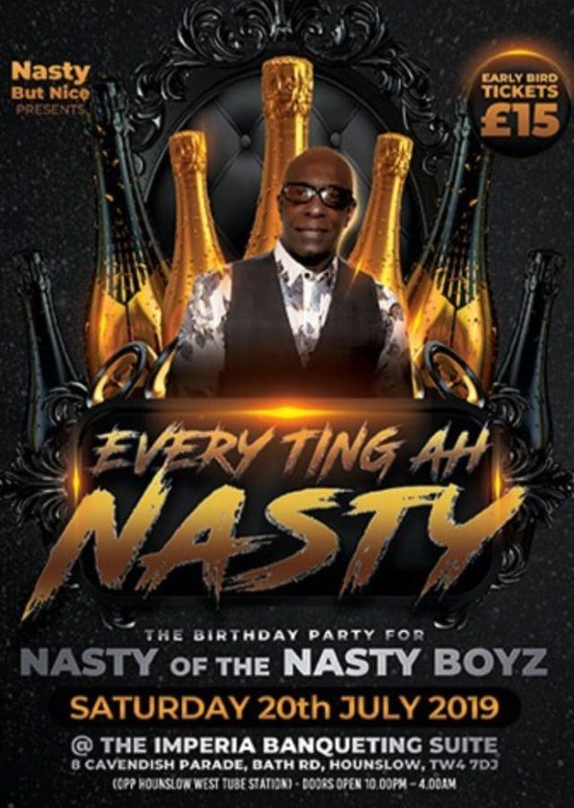 Nasty Boyz London 2019 Reggae event weekend